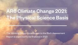El IPCC y el Sexto Informe de Evaluación AR6