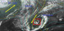 El NHC vigila a una baja no tropical al oeste de la península Ibérica