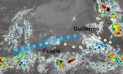 Felicia y Guillermo se debilitan en el Pacífico Oriental