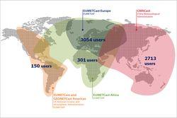Red de información satelital GEONETCast - Américas