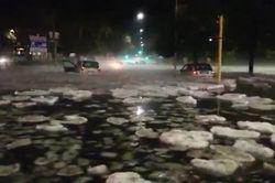 Granizada excepcional e inundaciones en Roma