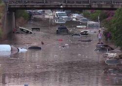 Severas inundaciones al norte de Italia