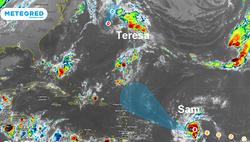 Huracán Sam a categoría 4 y se forma la tormenta subtropical Teresa