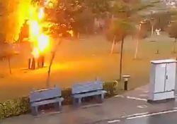 Unfassbares Video: Vier Menschen vom Blitz getroffen!