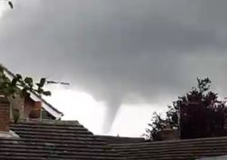 Impressive funnel clouds spotted across the UK