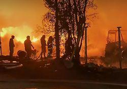 Violento incendio se produjo cerca del aeropuerto de Santiago