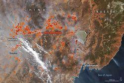 Incendios en el Lejano Oriente