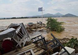 Inundaciones se presentan en Grecia