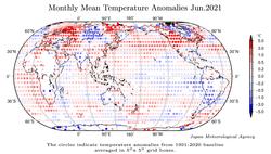 Junio de 2021 a nivel global: el 4º más cálido según JMA