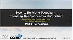 Juntos a distancia… cómo enseñar geociencias durante la cuarentena