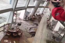 La furia del tifón Mangkhut en Hong Kong