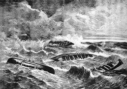 La terrible galerna del Sábado de Gloria de 1878