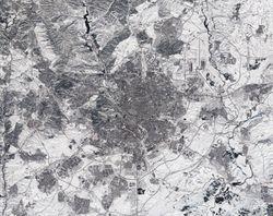 Madrid nevado visto por Sentinel-2