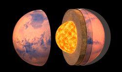 Marte tiene un núcleo líquido y metálico