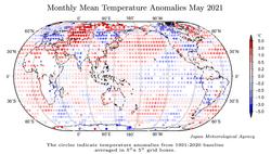 Mayo 2021: sexto más cálido a nivel global según la JMA