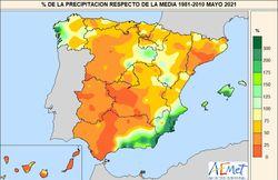 Mayo de 2021 en España: muy seco y cálido