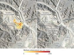 Monitoreo de las emisiones de metano en California