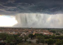 Tormentas muy intensas en la Península Ibérica
