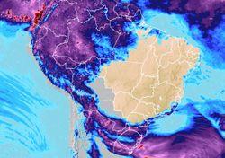 Novos temporais previstos para o Sul, seguidos de queda da temperatura