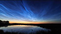 Nubes noctilucentes sobre Argentina