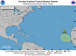 Onda africana tropical del este, ciclón tropical y Canarias