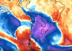Potente irrupción de frío polar pone primera y avanza por Sudamérica