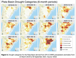 Publicación del análisis de sequía de la Cuenca del Plata