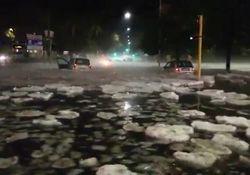 Schwere Unwetter: Hagelsturm tobt über Rom!