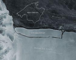 Se desprende el iceberg más grande del mundo en la Antártida: A-76