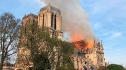 Señales satelitales del incendio de la catedral de Notre Dame en París