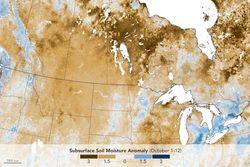 Sequía en el norte de las Grandes Llanuras