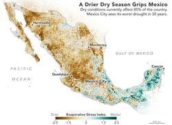 Sequía generalizada en México