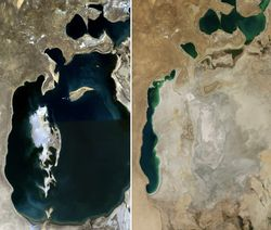 Sequías antropogénicas en Asia Central