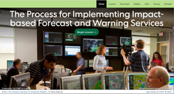 Servicios de avisos y pronóstico del tiempo basados en impactos 