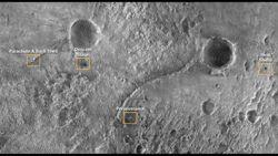 Sitio del aterrizaje de Perseverance del Mars Reconnaissance Orbiter