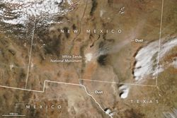 Una gran tormenta de polvo en zonas de EE.UU.