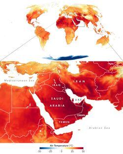 Una ola de calor achicharra al Medio Oriente