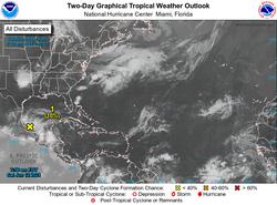 Una tormenta tropical se podría formar en el Golfo de México
