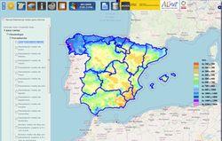 Visor del Atlas climático de la Península y Baleares