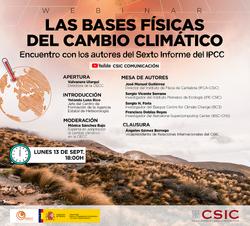Webinar sobre los retos del cambio climático