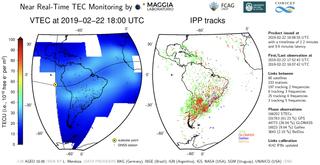 Monitorización de la electricidad atmosférica en Sudamérica