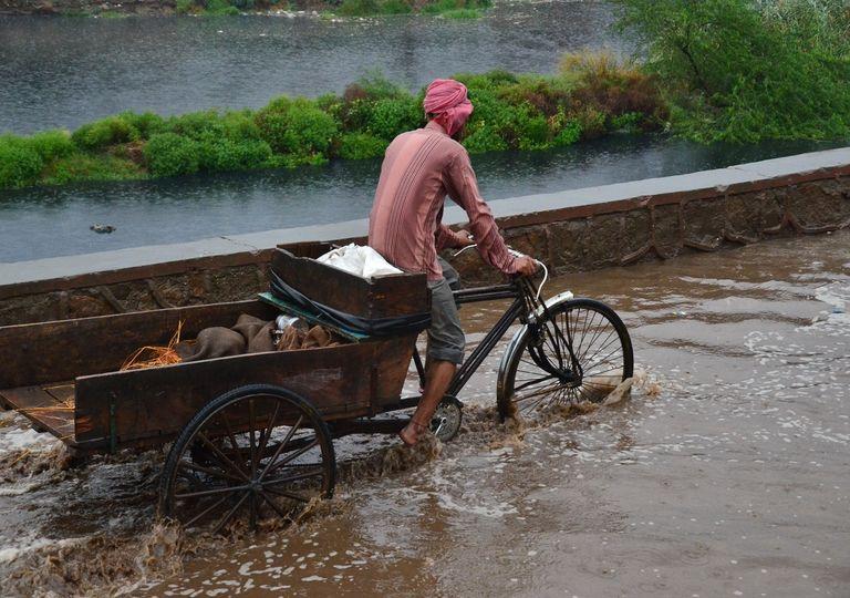 Chuva de monção na Índia
