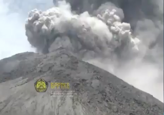 Mount Merapi volcano erupts in Indonesia