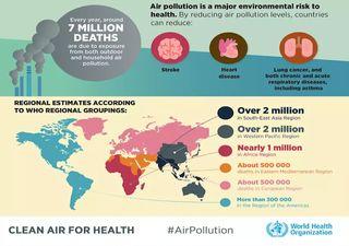 Murieron miles de personas por la contaminación del aire en 2020