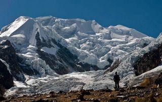 Muestras de glaciares bolivianos para archivos de hielo
