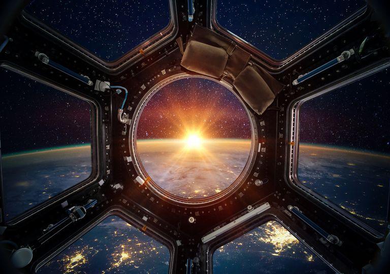 International space station porthole.