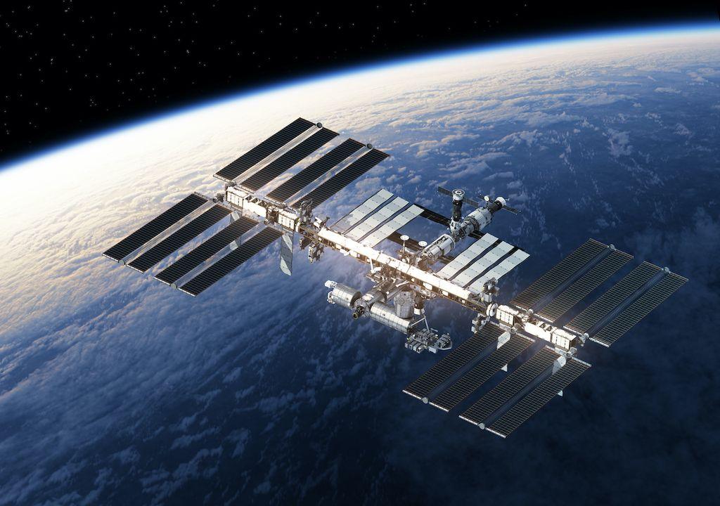 International Space Station orbiting Earth.