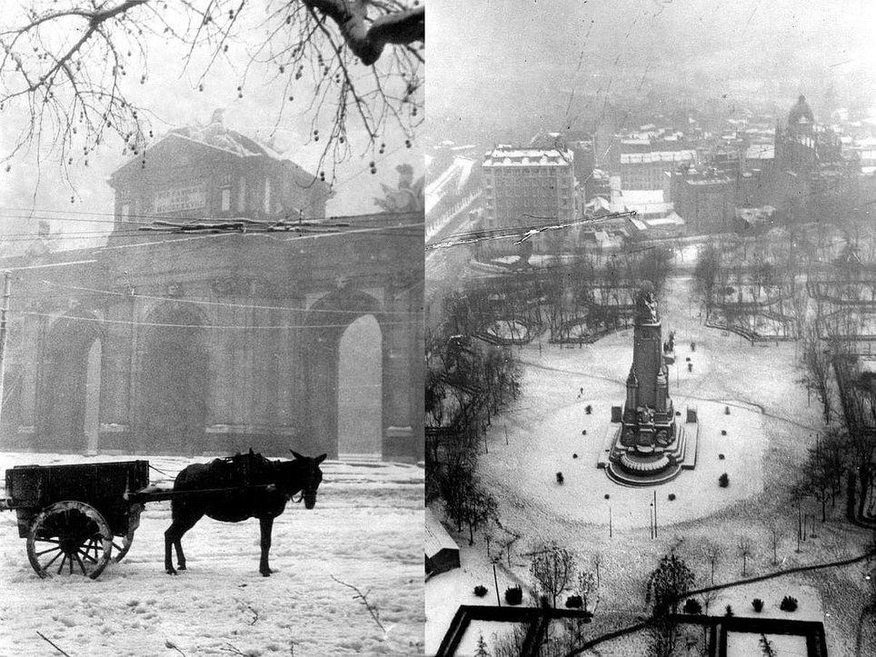 Nieve en Madrid el 6 de diciembre de 1950