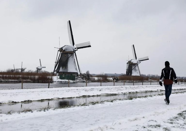 Tempestade de neve Holanda
