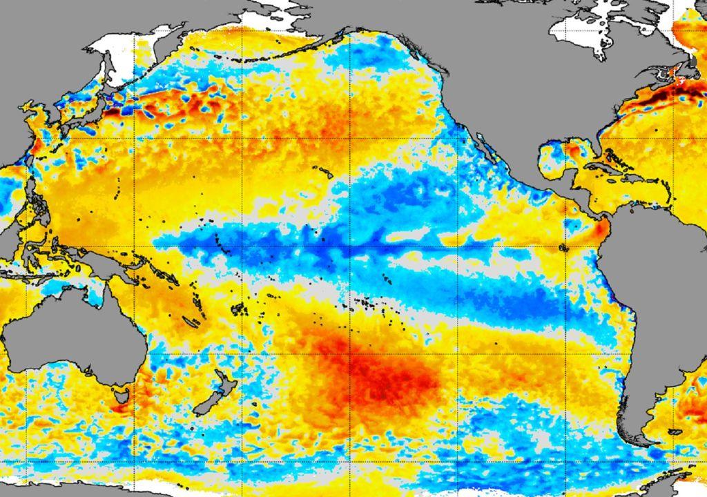 Temperatura Superficial del Mar; Océano Pacífico